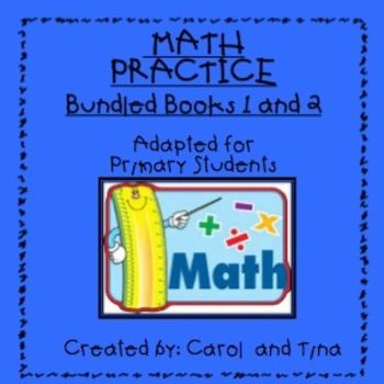 Math Practice Book:Books 1 & 2 Bundle         Adapted for