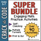 Math Practice Activities - Crack the Code Super Bundle