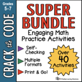 Math Practice Activities   Crack the Code Super Bundle   D
