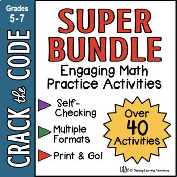 Math Practice Acivities: Crack the Code Super Bundle