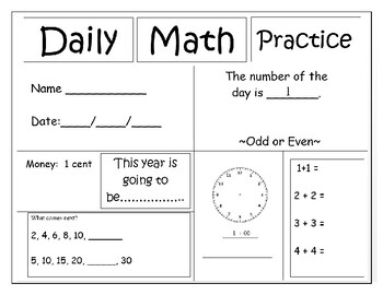 Math Practice Daily