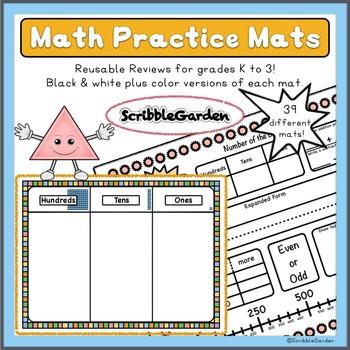 Math Practice Mats