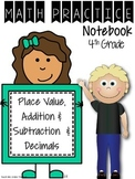 Daily Intervention Notebook - Beginning of Year Review & Decimals