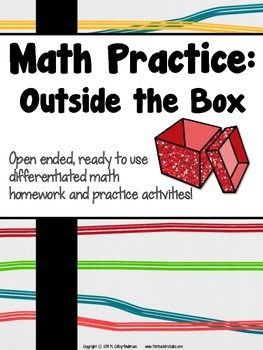 Math Practice:  Homework or Bell Ringers that are Outside the Box: Grades 3-5