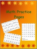 Math Practice Pages