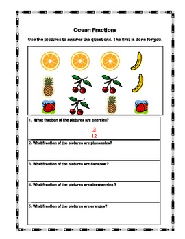 Math Practice -Place Value, Fractions, & Addition With/Without Regrouping
