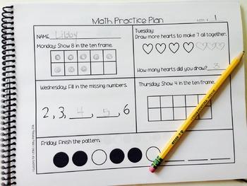 Math Practice Plan-on-a-Page Number Sense Freebie