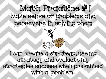 Math Practice Posters