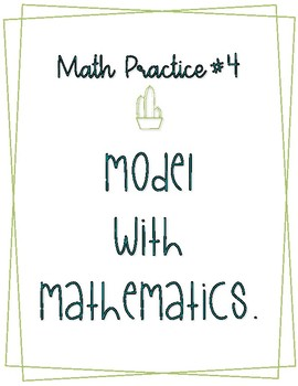 Math Practice Posters Cactus Theme