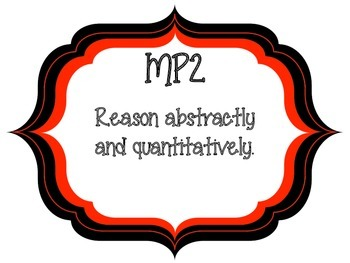 Math Practice Posters - Red and Black