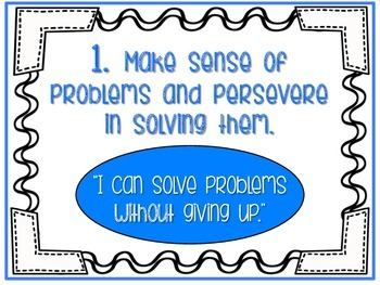 """Math Practice Posters with """"I can"""" Statements"""