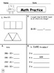 Math Practice/Review: Second Semester for Primary Students