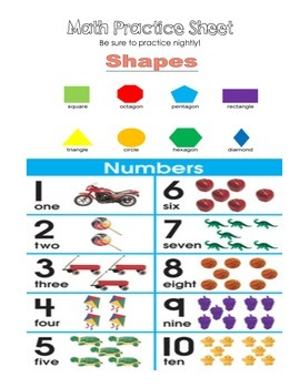 Math Practice Sheet