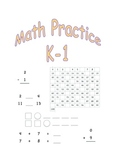 Math Practice Sheets K-1: Numbers, Patterns, Addition, Sub