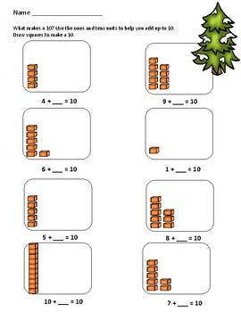 Math Practice Sheets and Problem Solving (numbers that make 10)