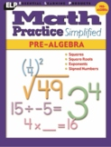 Math Practice Simplified: Pre-Algebra (Book L)