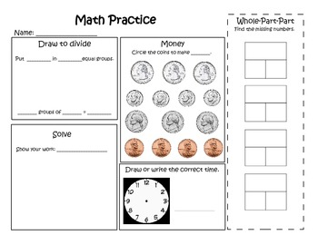 Math Practice Skill Builders