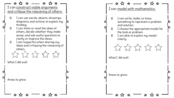Math Practice Standards Checklist and Reflection
