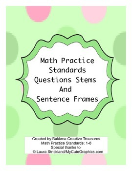 Math Practice Standards Question Stems and Response Frames
