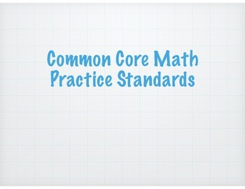 Math Practice Standards for Bulletin Boards