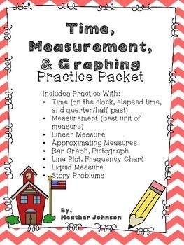 Math Practice: Time, Measurement, Liquid Measure, & Graphing
