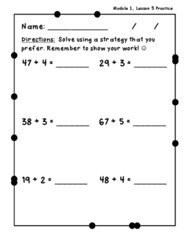 Math Practice - Using NYS Common Core Module 1, Lesson 5