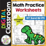 Math Practice Worksheets RIT Band 161-170 Google Classroom