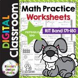 Math Practice Worksheets RIT Band 171-180 Google Classroom