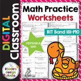 Math Practice Worksheets RIT Band 181-190 Google Classroom
