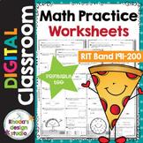 Math Practice Worksheets RIT Band 191-200 Google Classroom
