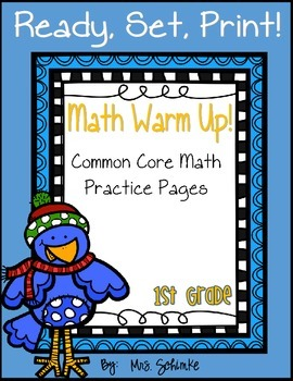 Math Practice Pages {Common Core Labeled}