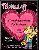 1st grade Math Practice - February