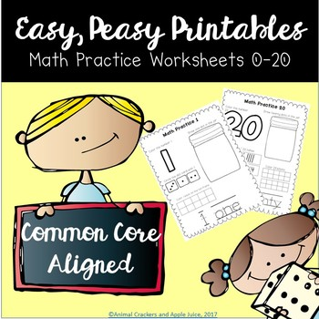 Math Practice Worksheets for Pre-k and Kindergarten
