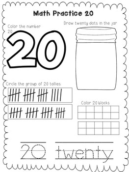 Math Practice Worksheets for Pre-k and Kindergarten | TpT