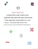 Math Practice aligned with core curriculum (word problems