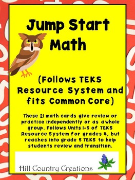 Math Practice and Review...TEKS Resource System Grade 4-5.