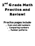 Math Practice - even numbers, comparing numbers, number patterns