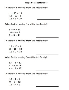 Math Practice or Homework Worksheets (Challenging)