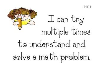 Math Practices Kid Friendly