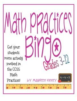 Math Practices Bingo