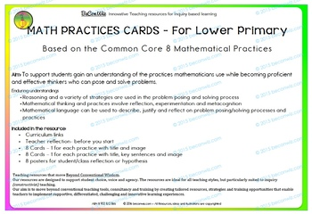 Math Practices - Common Core for lower Primary
