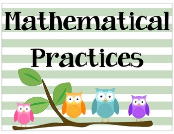 Math Practices Owls
