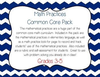 Math Practices Pack 3-5