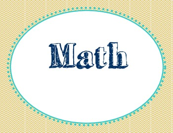 Math Practices Posters