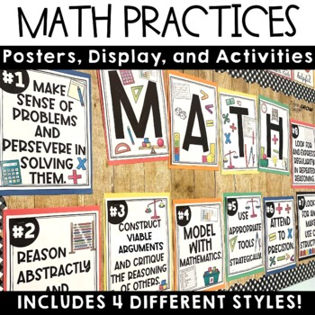 Math Practices Posters and Activities