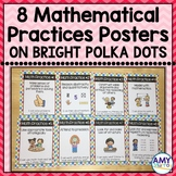 Math Practices Posters for Young Learners on bright polka dots