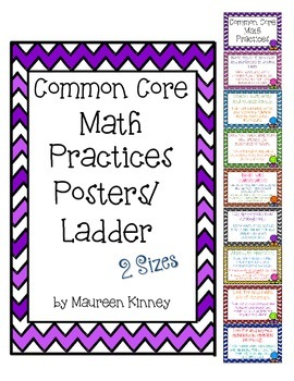 Math Practices Posters or Ladder