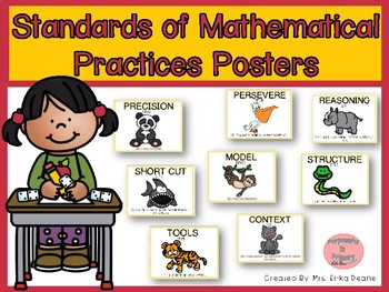 Math Practices Posters with Buddies