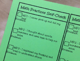Math Practices Student Self-Check Bookmark