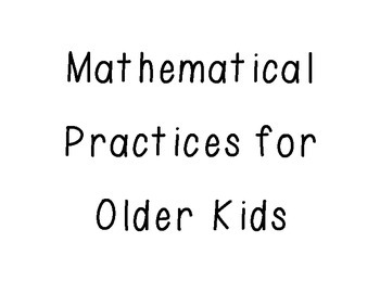 Math Practices for Older Kids